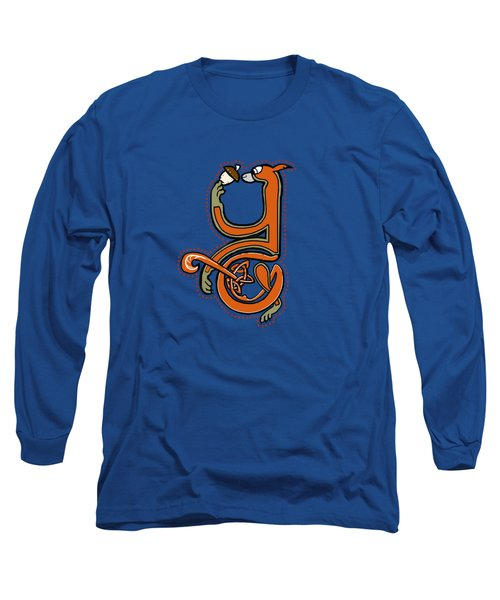 Medieval Squirrel Letter Y Long Sleeve T-Shirt