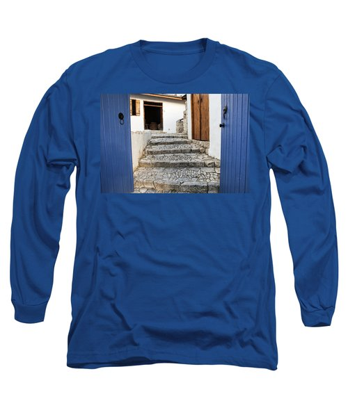 Mediteranean Old House Long Sleeve T-Shirt by Mike Santis