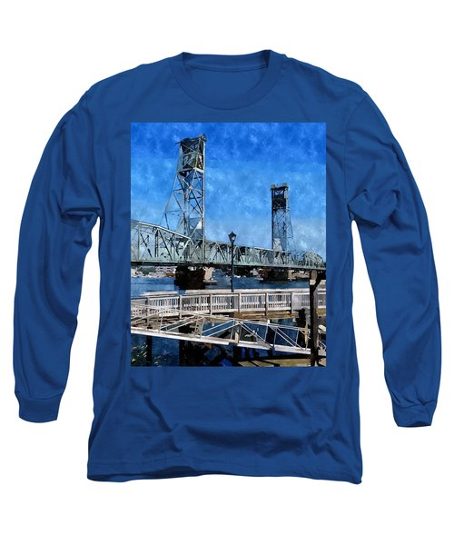 Memorial Bridge Mbwc Long Sleeve T-Shirt by Jim Brage