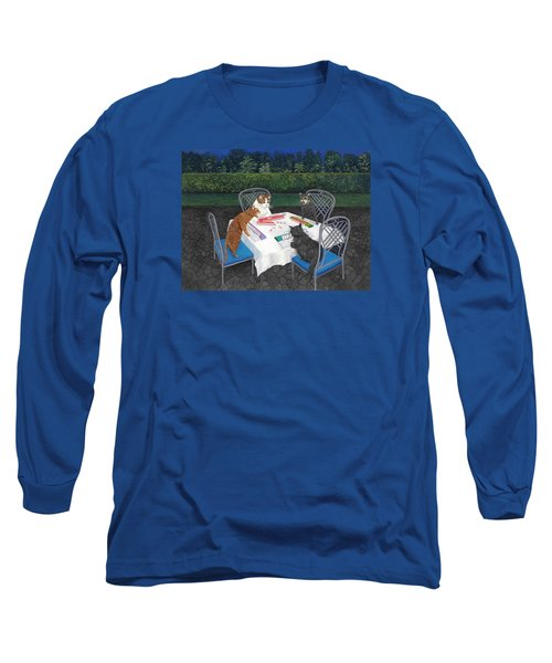 Meowjongg - Cats Playing Mahjongg Long Sleeve T-Shirt