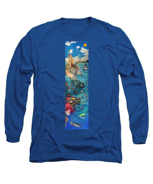 Mermaid In Paradise Long Sleeve T-Shirt