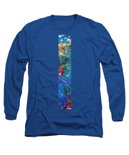 Mermaid In Paradise Complete Underwater Descent Long Sleeve T-Shirt