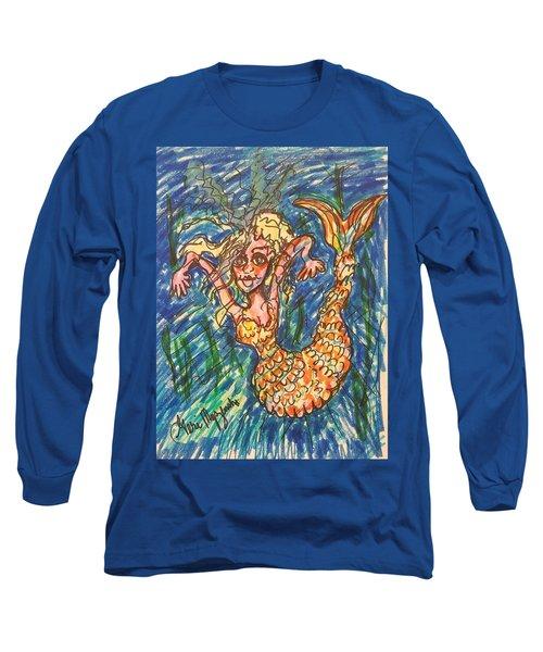 Mermaid Under The Sea Long Sleeve T-Shirt