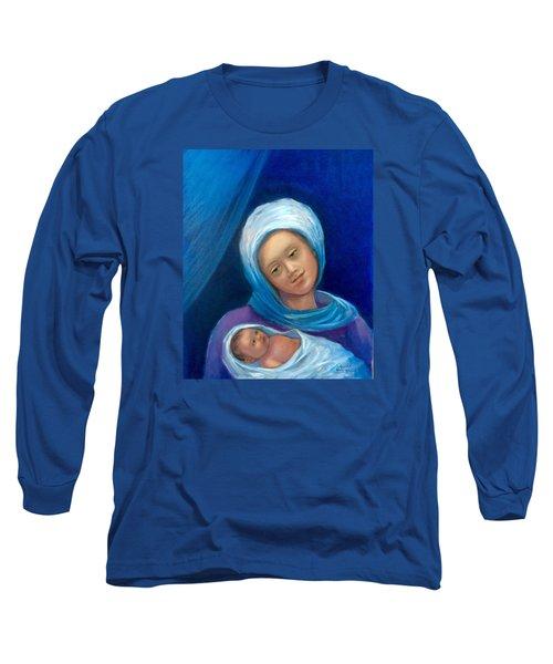 Merry Christmas Long Sleeve T-Shirt by Laila Awad Jamaleldin