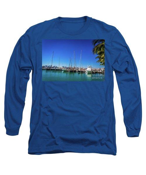 Miami Beach Marina 4509 Long Sleeve T-Shirt