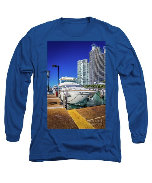 Miami Beach Marina 4578 Long Sleeve T-Shirt
