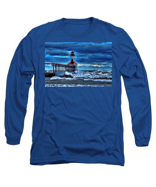 Michigan City Lighthouse Long Sleeve T-Shirt