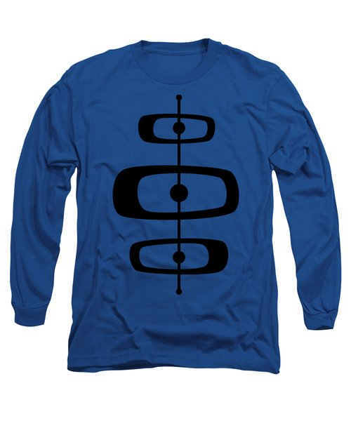 Mid Century Shapes 2 Transparent Long Sleeve T-Shirt