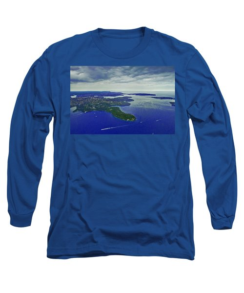 Middle Head And Sydney Harbour Long Sleeve T-Shirt
