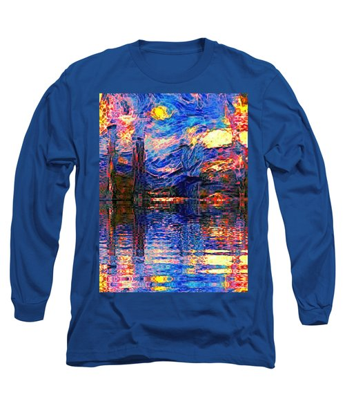 Midnight Oasis Long Sleeve T-Shirt by Holly Martinson