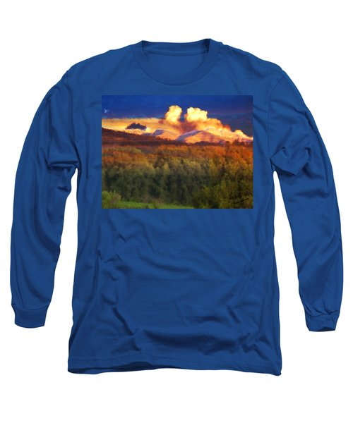 Milagro Cloud Theater Over Truchas Peaks Nm Long Sleeve T-Shirt