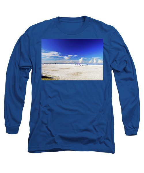 Long Sleeve T-Shirt featuring the photograph Miles And Miles Of White Sand by Gary Wonning