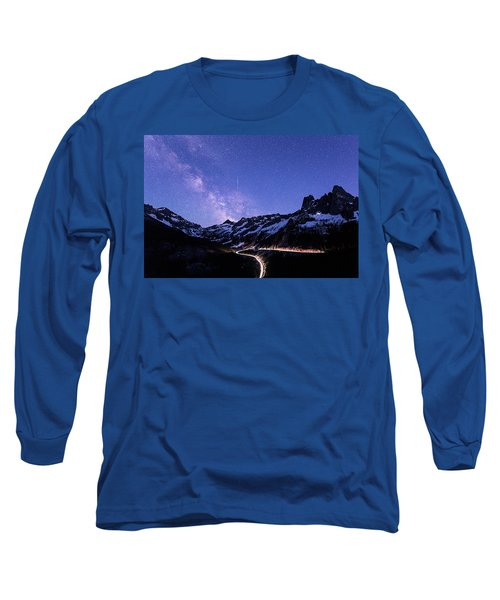 Milky Way At Washington Pass Long Sleeve T-Shirt