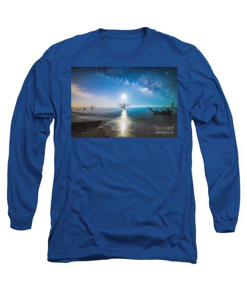Milky Way Shore Long Sleeve T-Shirt by Robert Loe