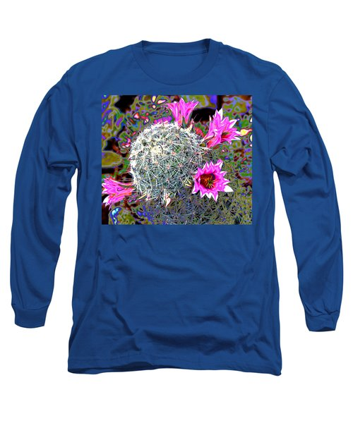 Long Sleeve T-Shirt featuring the photograph Mini Cactus by M Diane Bonaparte