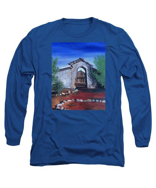 Rustic Charm Long Sleeve T-Shirt by Mary Ellen Frazee