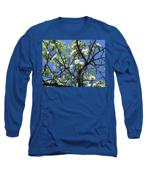 Mn Apple Blossoms Long Sleeve T-Shirt by Barbara Yearty