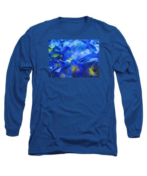 Long Sleeve T-Shirt featuring the photograph Modern Art - Floral In Blue by Merton Allen