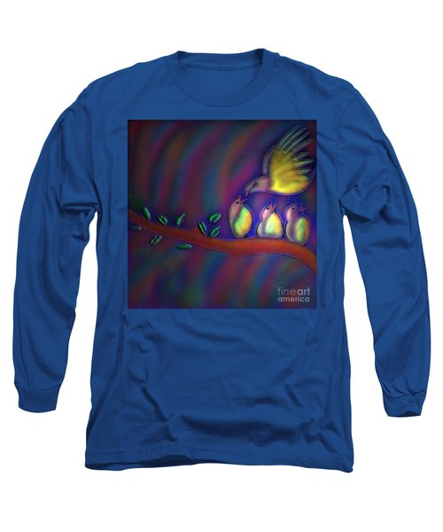 Mom Long Sleeve T-Shirt by Latha Gokuldas Panicker