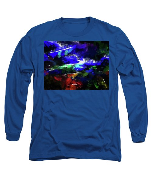 Moment In Blue Lazy River Long Sleeve T-Shirt by Cedric Hampton
