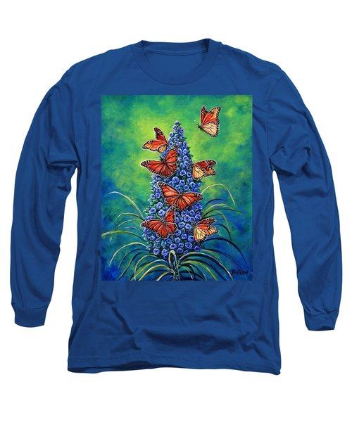 Monarch Waystation Long Sleeve T-Shirt by Gail Butler