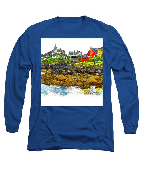 Long Sleeve T-Shirt featuring the photograph Monhegan West Shore by Tom Cameron