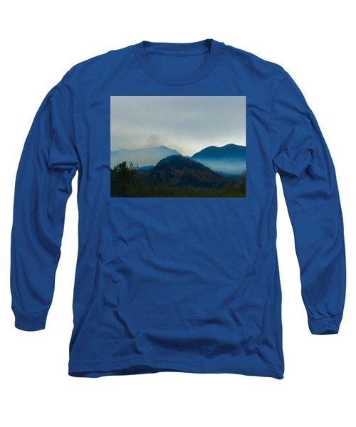 Montana Mountains Long Sleeve T-Shirt by Suzanne Lorenz