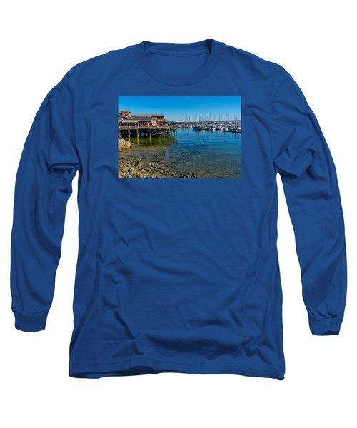 Monterey Harbor Morning Long Sleeve T-Shirt by Derek Dean