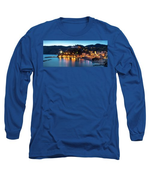 Long Sleeve T-Shirt featuring the photograph Monterosso Al Mare At Twilight by Brian Jannsen