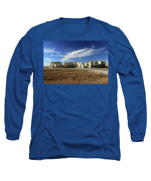 Monument Rock Afternoon  Long Sleeve T-Shirt by Christopher McKenzie