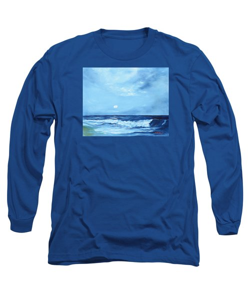 Moon Light Night Wave Long Sleeve T-Shirt