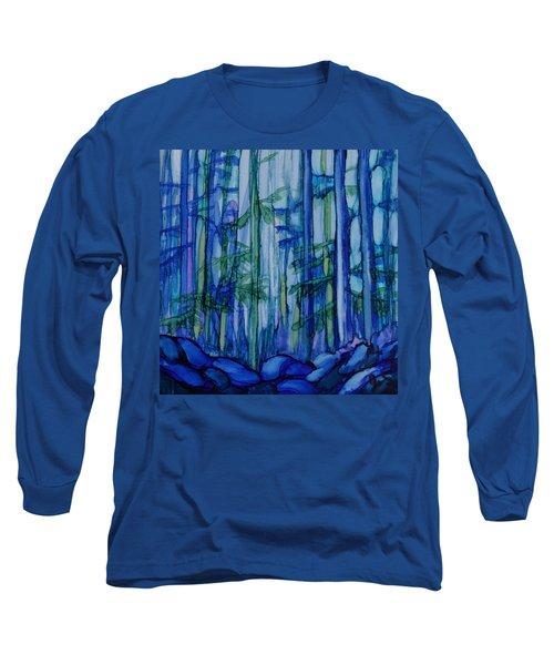 Moonlit Forest Long Sleeve T-Shirt by Joanne Smoley