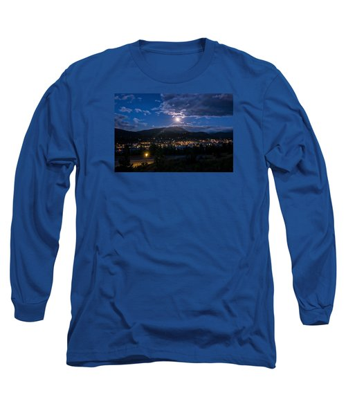 Moon Rising Over Breckenridge Long Sleeve T-Shirt