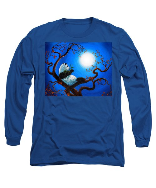 Moonlit Snack Long Sleeve T-Shirt by Laura Iverson