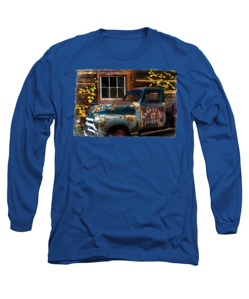 Moonshine Express Bordered Long Sleeve T-Shirt by Debra and Dave Vanderlaan