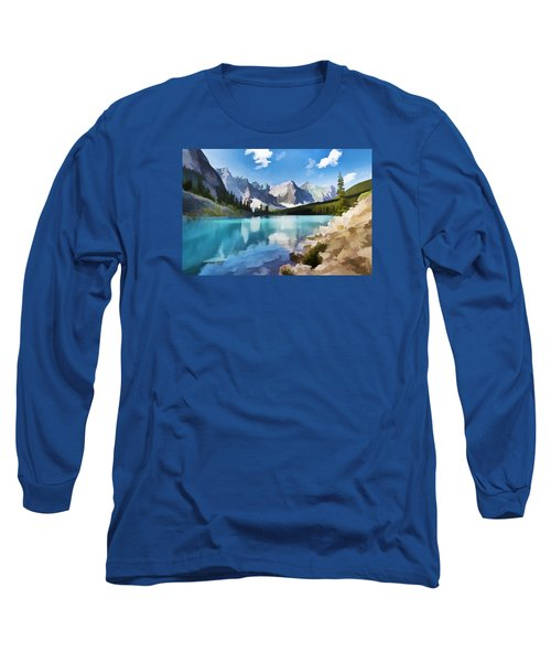 Moraine Lake At Banff National Park Long Sleeve T-Shirt