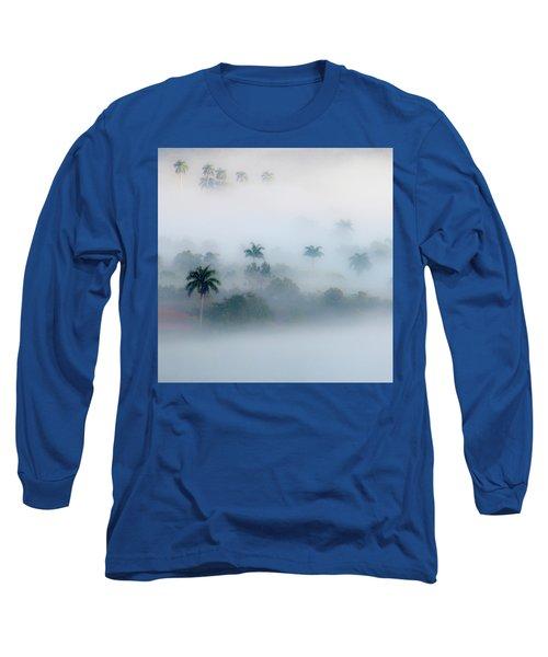 Morning Fog, Vinales Valley Long Sleeve T-Shirt