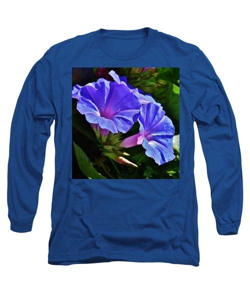 Morning Glory Flower Long Sleeve T-Shirt by Werner Lehmann