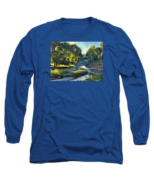 Morning Light On The Creek Long Sleeve T-Shirt