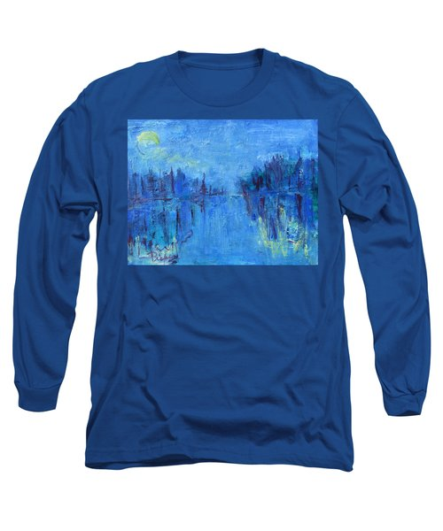 Long Sleeve T-Shirt featuring the painting Morning On The Point by Betty Pieper