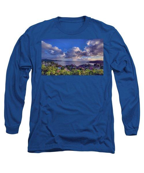 Morning Rain In Kaneohe Bay Long Sleeve T-Shirt