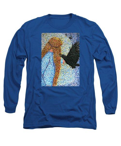 Morrigan Raven Goddess Long Sleeve T-Shirt