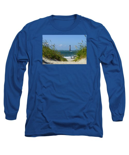 Morris Island Lighthouse Walkway Long Sleeve T-Shirt