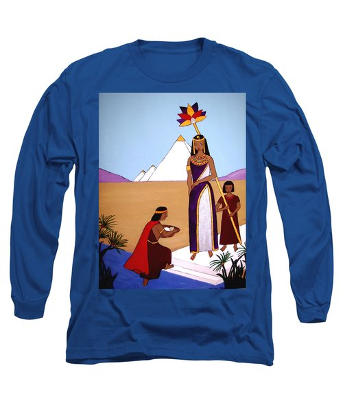 Long Sleeve T-Shirt featuring the painting Moses In The Bullrushes by Stephanie Moore