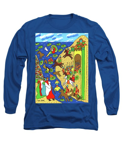 Moses Parting The Red Sea Long Sleeve T-Shirt