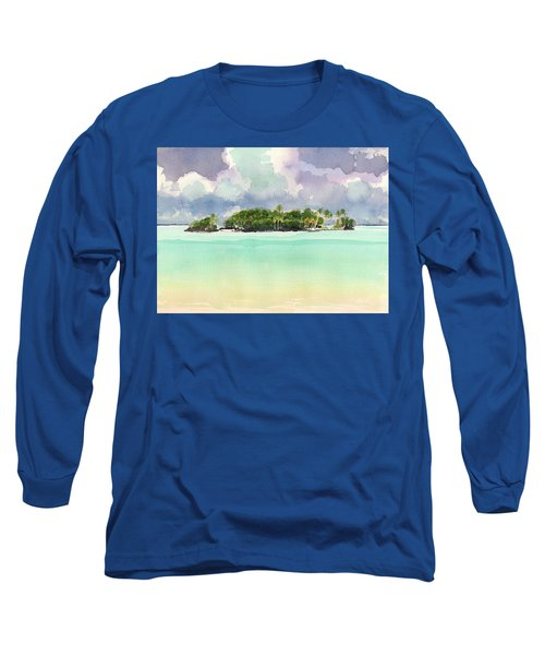Motu Rapota, Aitutaki, Cook Islands, South Pacific Long Sleeve T-Shirt