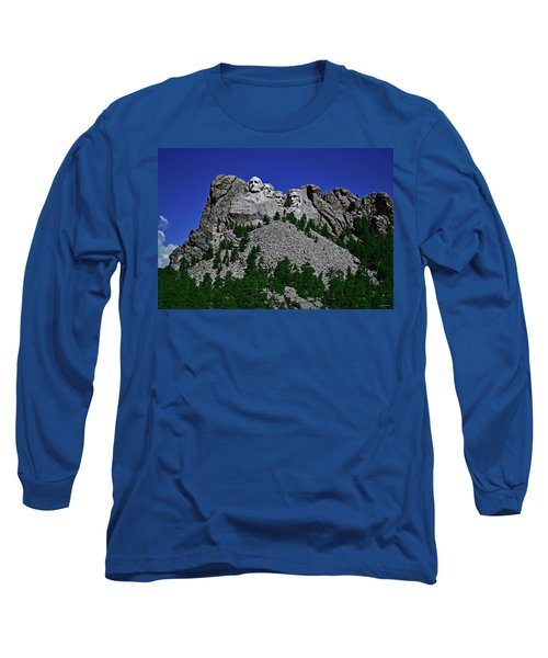 Long Sleeve T-Shirt featuring the photograph Mount Rushmore 001 by George Bostian