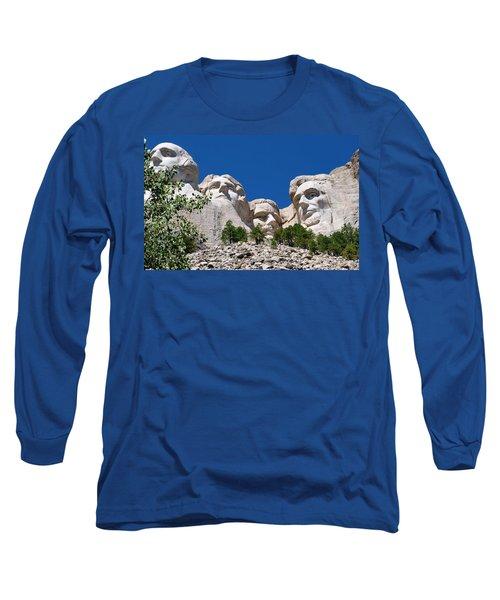 Mount Rushmore Close Up View Long Sleeve T-Shirt