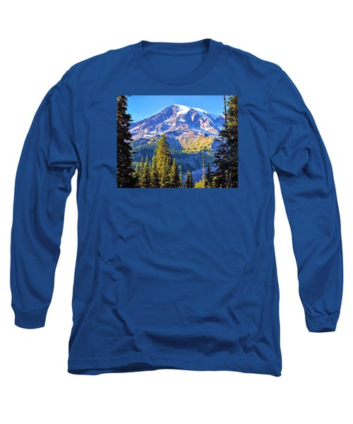 Mountain Meets Sky Long Sleeve T-Shirt by Anthony Baatz