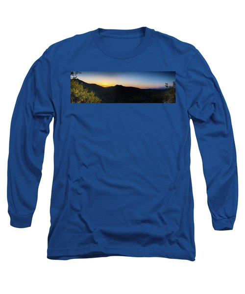 Long Sleeve T-Shirt featuring the photograph Mountains At Sunset by Ed Cilley